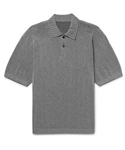 Issey Miyake | Slim-Fit Knitted Polo Shirt