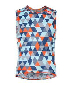 Castelli | Pro Printed Stretch-Mesh Cycling Tank Top