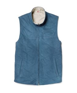 Isaia | Reversible Suede And Shell Gilet