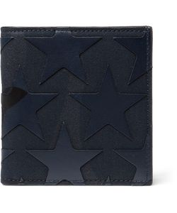 Valentino | Star-Appliquéd Canvas And Leather Billfold Wallet