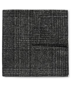 Thom Sweeney | Checked Wool Silk And Cashmere-Blend Pocket Square