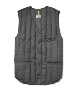 Rocky Mountain Featherbed | Six Month Quilted Wool-Twill Down Gilet