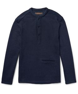 Freemans Sporting Club | Loopback Cotton-Jersey Henley Sweatshirt