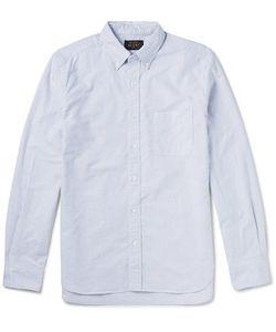 Beams Plus | Button-Down Collar Striped Cotton Shirt
