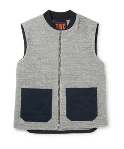 The Workers Club | The Worker Club Panelled Wool And Cotton-Blend Bouclé Gilet