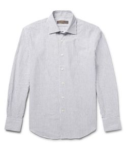 Freemans Sporting Club | Striped Cotton Oxford Shirt