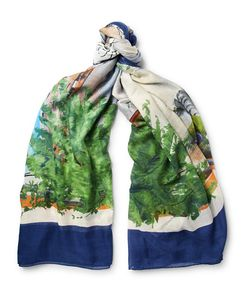 RUBINACCI | Tarantella Printed Modal And Silk-Blend Scarf