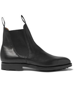 EDWARD GREEN | Newmarket Grained-Leather Chelsea Boots