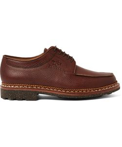 Yuketen | Heschung Pebble-Grain Leather Derby Shoes