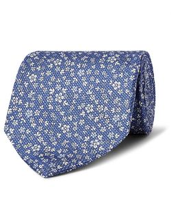 Emma Willis | 9cm Floral-Print Silk And Linen-Blend Tie