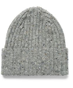 Drake's | Ribbed Mélange Lambswool Beanie