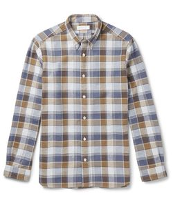 Several | Deck Sli-Fit Button-Down Collar Checked Cotton Shirt
