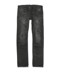Fabric-Brand & Co | Moku Slim-Fit Distressed Washed Selvedge Denim Jeans