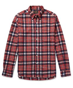 Beams Plus | Beam Plu Haggy Button-Down Collar Checked Bruhed-Cotton Flannel Hirt