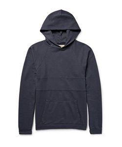 MOLLUSK | Molluk Panelled Loopback Cotton-Jerey Hoodie Torm Blue