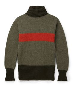 Nigel Cabourn | Striped Wool Rollneck Sweater