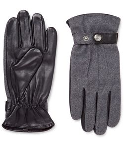 DENTS | Guildford Élange Flannel And Leather Gloves