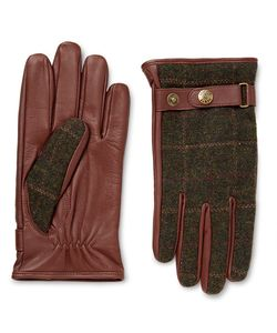 DENTS | Edinburgh Checked Flannel And Leather Gloves