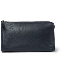 D R Harris | Grained-Leather Wash Bag