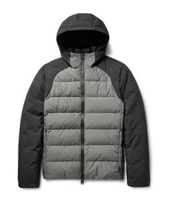 Herno Laminar | Two-Tone Quilted Gore Windstopperreg Hooded Down Jacket