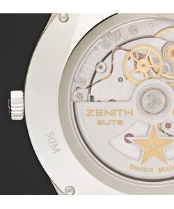 Zenith | Elite Ultra-Thin Roman Dial Stainless Steel And Alligator Watch