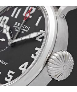 Zenith | Pilot Type 20 Gmt Stainless Steel And Leather Watch