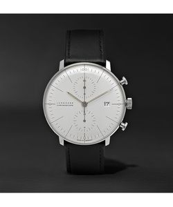 Junghans | Max Bill Chronograph Stainless Steel And Leather Watch