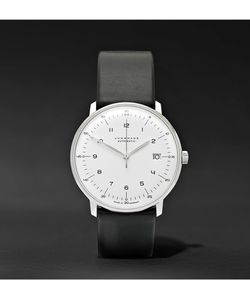 Junghans | Max Bill Stainless Steel And Leather Watch