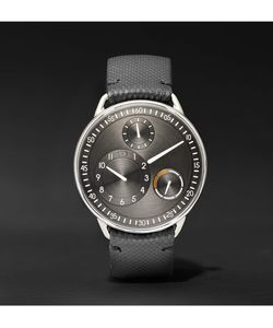 Ressence | Type 1 R Titanium And Leather Watch