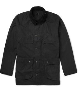 Orslow | Riders Corduroy-Trimmed Waxed-Cotton Jacket