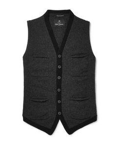 Nigel Cabourn | Mélange Boiled Wool Sweater Vest