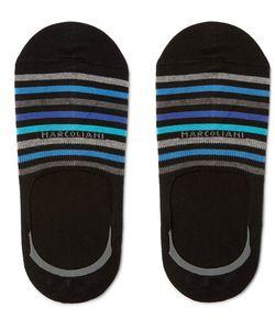 Marcoliani | Striped Stretch Pima Cotton-Blend No-Show Socks