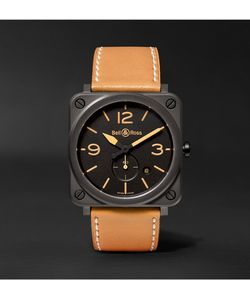 Bell & Ross | Br S Heritage 39mm Ceramic And Leather