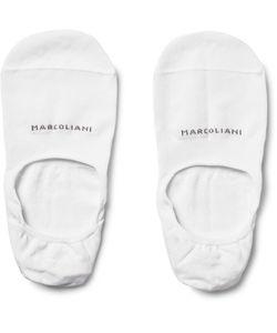 Marcoliani | Invisible Touch Pima Cotton-Blend No-Show Socks