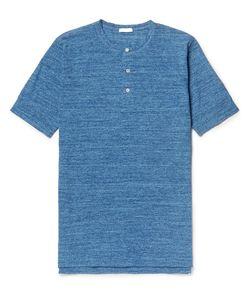 Eidos | Mélange Cotton-Jersey Henley T-Shirt