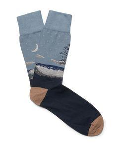 Corgi | Intarsia Cotton-Blend Socks