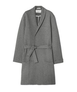 Oliver Spencer Loungewear | Quilted Brushed Cotton-Blend Robe