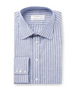 Kingsman | Turnbull Asser Slim-Fit Striped Cotton-Poplin Shirt