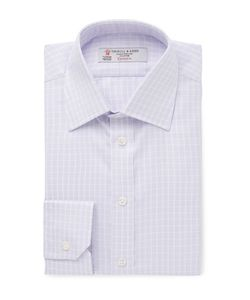 Turnbull & Asser | Slim-Fit Checked Cotton-Twill Shirt