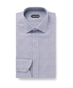 Tom Ford | Slim-Fit Prince Of Wales Checked Cotton Shirt