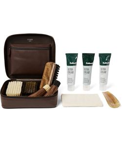 CEDES MILANO | Travel Shoe Care Set With Leather Case