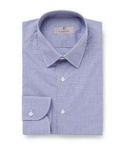 Canali | Slim-Fit Gingham Cotton-Poplin Shirt