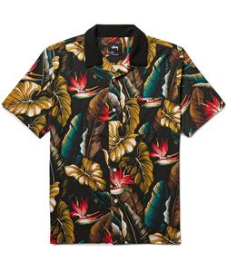 Stüssy   Camp-Collar Printed Matte-Satin Shirt