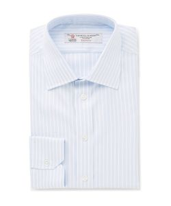 Turnbull & Asser | Slim-Fit Striped Cotton-Twill Shirt Light