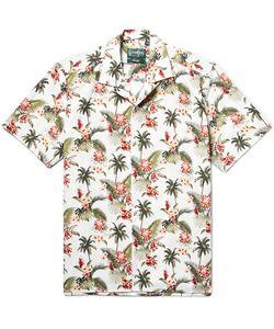 Gitman Vintage | Camp-Collar Printed Slub Cotton Shirt