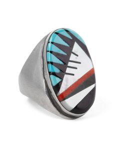 Foundwell Vintage | 1980s Sterling Multi-Stone Ring