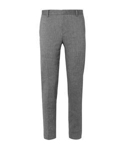 Solid Homme | Linen-Blend Hopsack Suit Trousers