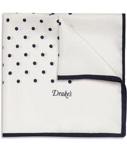 Drake's | Polka-Dot Silk Pocket Square