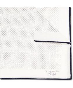 Kingsman | Drakes Polka-Dot Cotton And Silk-Blend Pocket Square