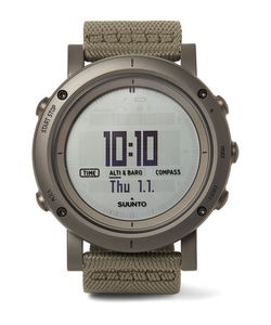 SUUNTO | Essential Stainless Steel And Webbing Digital Watch